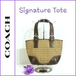 💯 Authentic Coach Signature Tote 6383